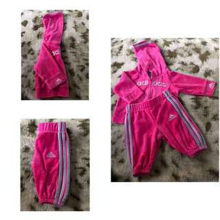 Velvet Pink Adidas tracksuit