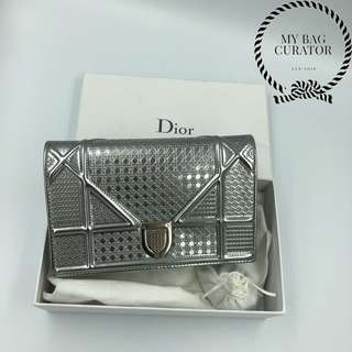 Diorama WOC Silver-Tone Metallic Calfskin