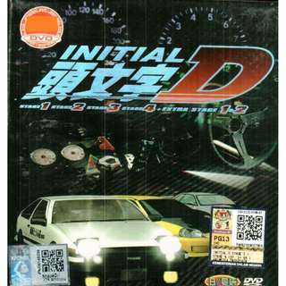 Initial D Stage 1-4 + Extra Stage 1-2 Anime DVD