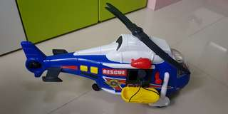 Helicopter with siren sound