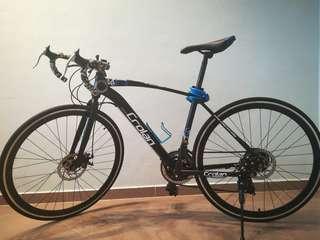 Crolan road bike(black and blue)