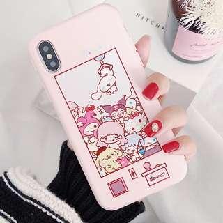 (W)手機殼IPhone6/7/8/plus/X : 布丁狗雙子星夾娃娃全包邊軟殼