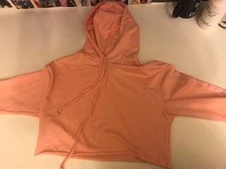 Pink cropped hoodie