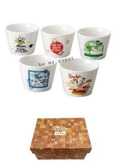 《日本代購》日本製 Toy Story 玩具總動員 小碗套裝(5隻) 新屋入伙 禮物