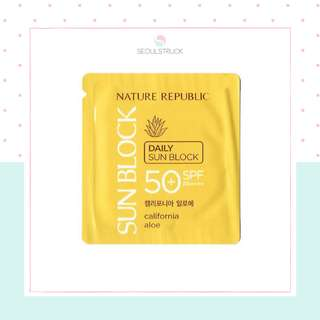 Nature Republic California Aloe Daily Sunblock SPF50+