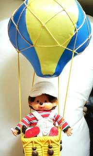中古 1974年 100% real monchhichi monchichi 連 1974年 原裝 熱氣球 夢奇奇