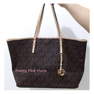 💕Michael Kors Classic brown Tote bag (LARGE)