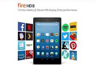 Fire 8 HD Tablet Amazon wifi (Latest Gen)