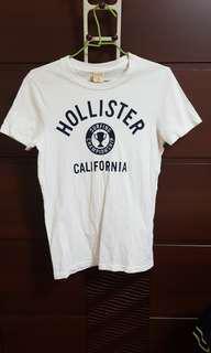 🚚 Hollister 白  tee