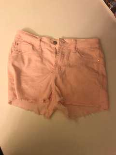 Pink supre jean shorts