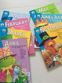 Full colour monthly activities for grades 1 to 3