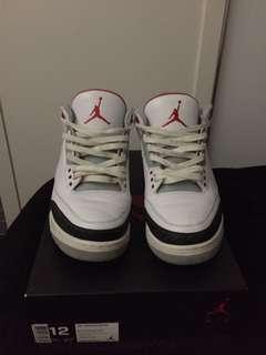 Air Jordan Retro 3 - Fire Red US 12