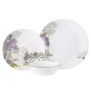 CORELLE VIVE FOREST AT DAWN 12PC DINNER SET