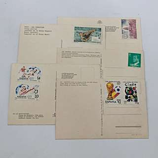 Vintage Europe (Pre-EU) Postcards with Unused Stamps 61 Pcs Incl. World Cup Stamps