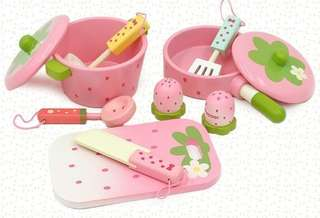 Pink Wooden Cooking Accessories