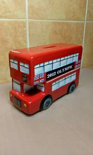 2012 Olympic London Bus Coin Bank.