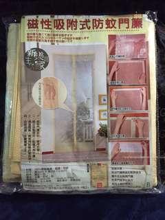 🚚 磁性吸附式防蚊門簾(米黃色)