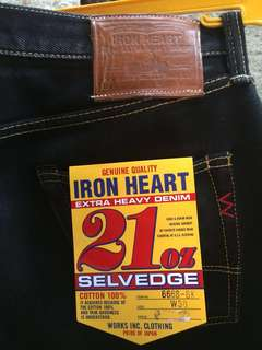 Iron Heart Denim type 666s-BK size 38