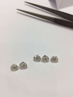 Heart shape lose diamonds