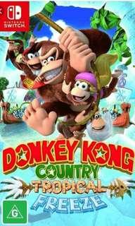 Nintendo Switch Donkey Kong tropical freeze