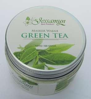 MASKER WAJAH GREEN TEA