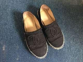 Chanel 漁夫鞋 草編鞋 休閒鞋