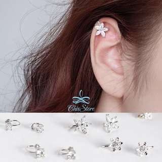 🚚 Chis Store【水鑽耳骨夾】韓國 鋯石 閃亮 無耳洞耳環 耳骨夾 耳夾 夾式耳環 無耳洞耳夾 MZH6307