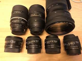 Nikon Nikkor Af-D lenses for sell at discount