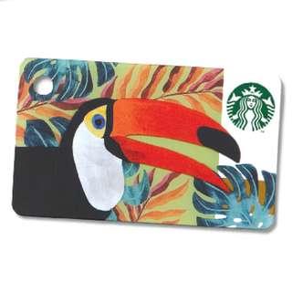 🆕Starbucks® 🇲🇾 Toucan Mini Card