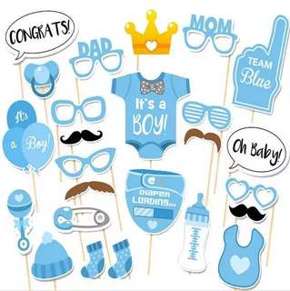 🚚 Baby Boy Party Photo Booth Props