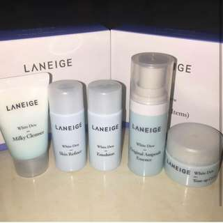 (limited) LANEIGE WHITE DEW TRIALKIT 5 ITEMS