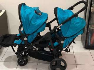Perreno Twins Stroller