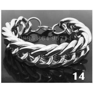 Gelang Rantai Besar Pria/Cowok Keren/Modis/Fashion/Mewah Titanium Stainless Steel - 014