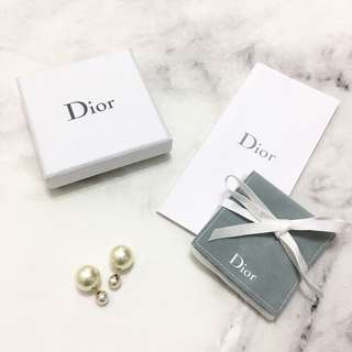 DIOR Double Pearls Earrings