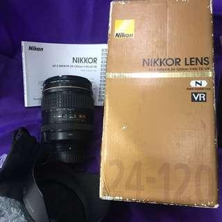 Nikon Nikkor af-s 24-120mm F4 G ed VR complete w/ box