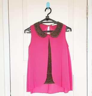Tanktop collar pink