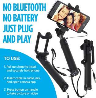 Power Theory Selfie Stick Aluminum - No Battery or Bluetooth Required