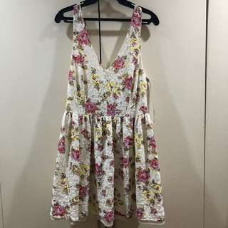 Atmosphere Floral Vneck Dress