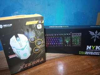 Gaming Keyboard and Mouse - Rexus Xierra X6 & NYK K - 02