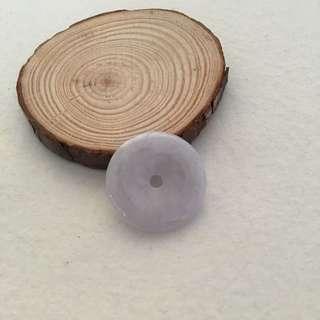 天然翡翠淡紫蘿蘭平安扣 PN15