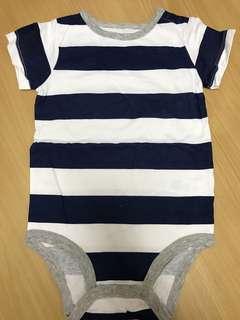 Romper stripes blue/grey
