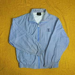 🚚 古著Polo藍紫色棉質教練外套