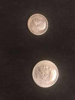 1898 1 Russian Ruble and 1896 50 kopeks