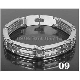 Gelang Exclusive Gear Siver Pria/Cowok Keren/Modis/Fashion/Mewah Titanium Stainless Steel - 009