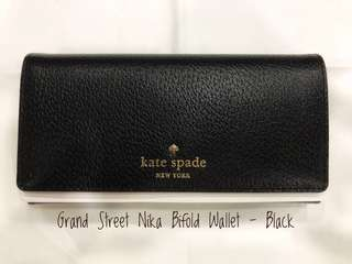 Kate Spade Grand Street Nika Bifold Wallet (Authentic)