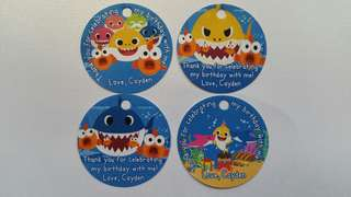 Baby Shark Birthday Party Gift Tag