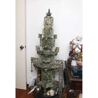 Jade stone incense burner