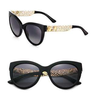 Dolce & Gabbana Filigree Cats Eye Sunglasses
