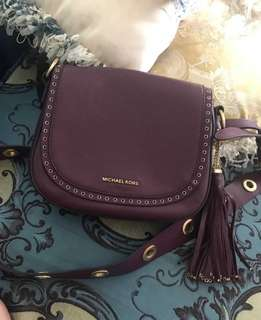 二手正品Michael Kors 馬鞍肩背包MK brooklyn saddle