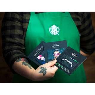 🆕Starbucks® Spotify® 🇺🇸 Gift Card Set